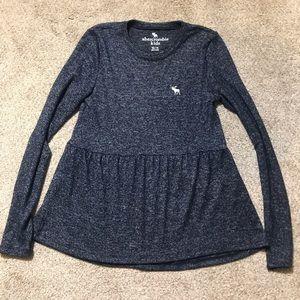 Abercrombie girls long sleeve tunic top 13/14